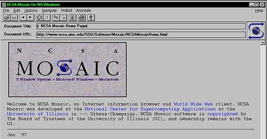 Mosaic Browser 1994